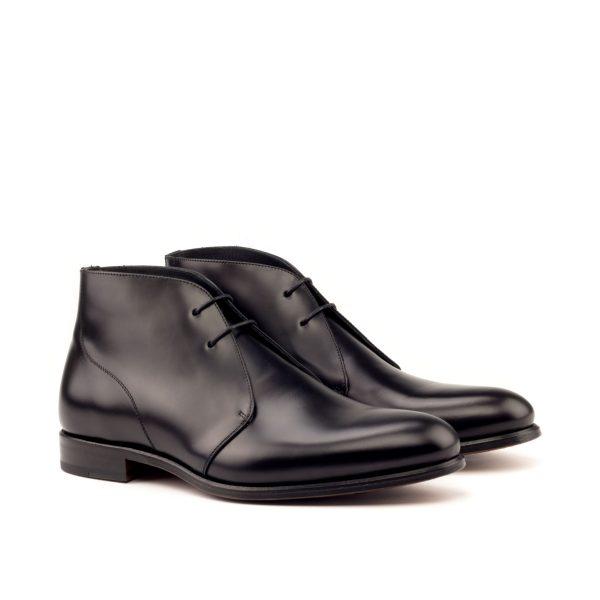 Bota de vestir para hombre Chukka en boxcalf negro