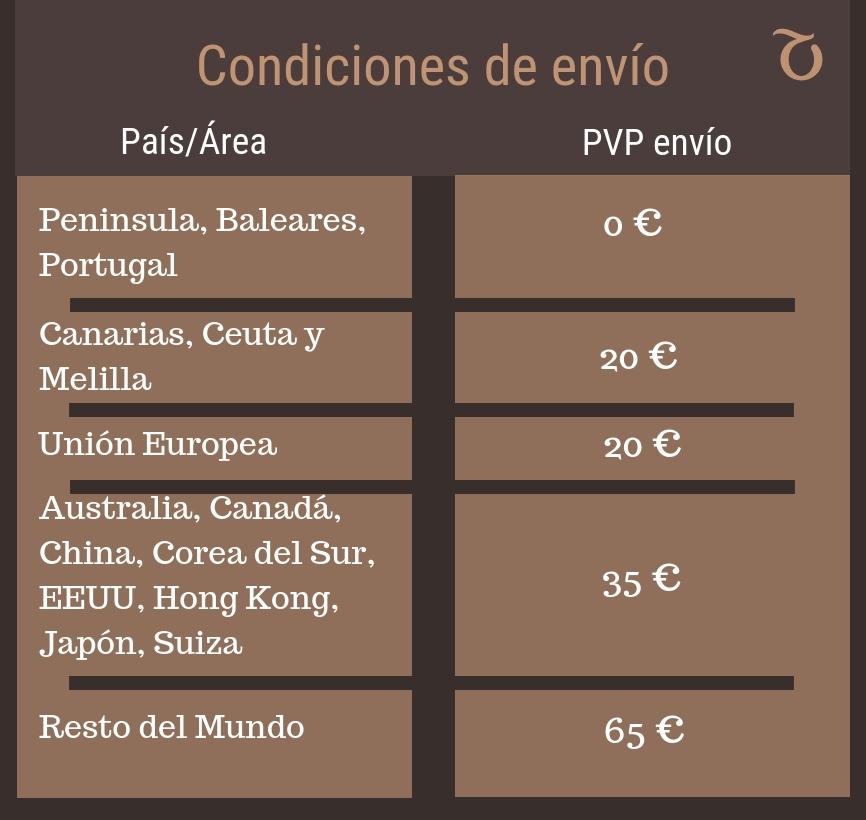 Condiciones de envío El Cambrillón S.L.