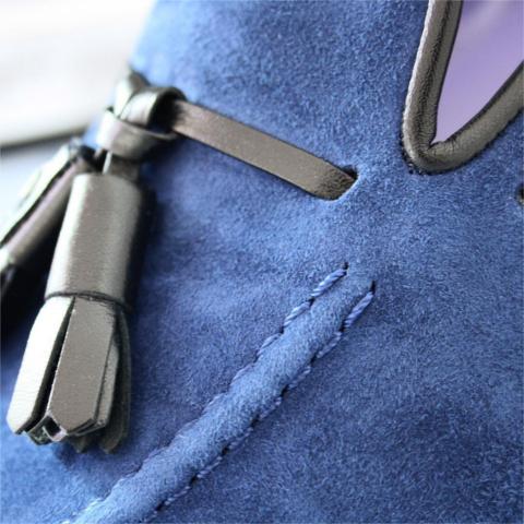Loafer LUCA en ante azul