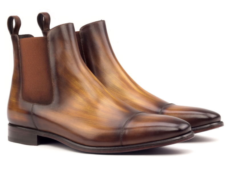Chelsea boot in brown crust patina