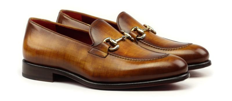 Gucci Loafer para hombre en crust patina cognac Cambrillon