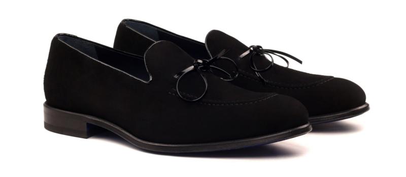 Loafer para hombre en ante y charol negro_1-6