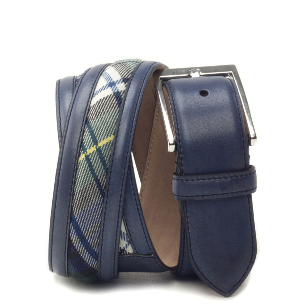 cinturon-para-hombre-boxcalf-azul-marino-y-tartan-VERGARA-CAMBRILLON