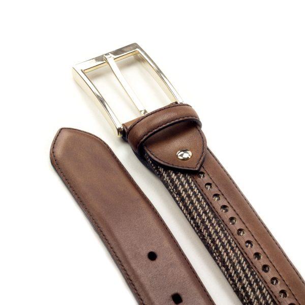 cinturon-para-hombre-boxcalf-marron-y-tweed-RETIRO