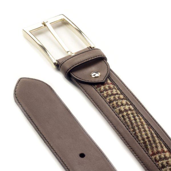 cinturon-para-hombre-boxcalf-marron-y-tweed-VERGARA