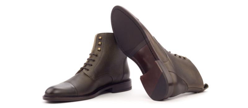 Bota cap toe personalizada para mujer en box calf negro Cambrillon