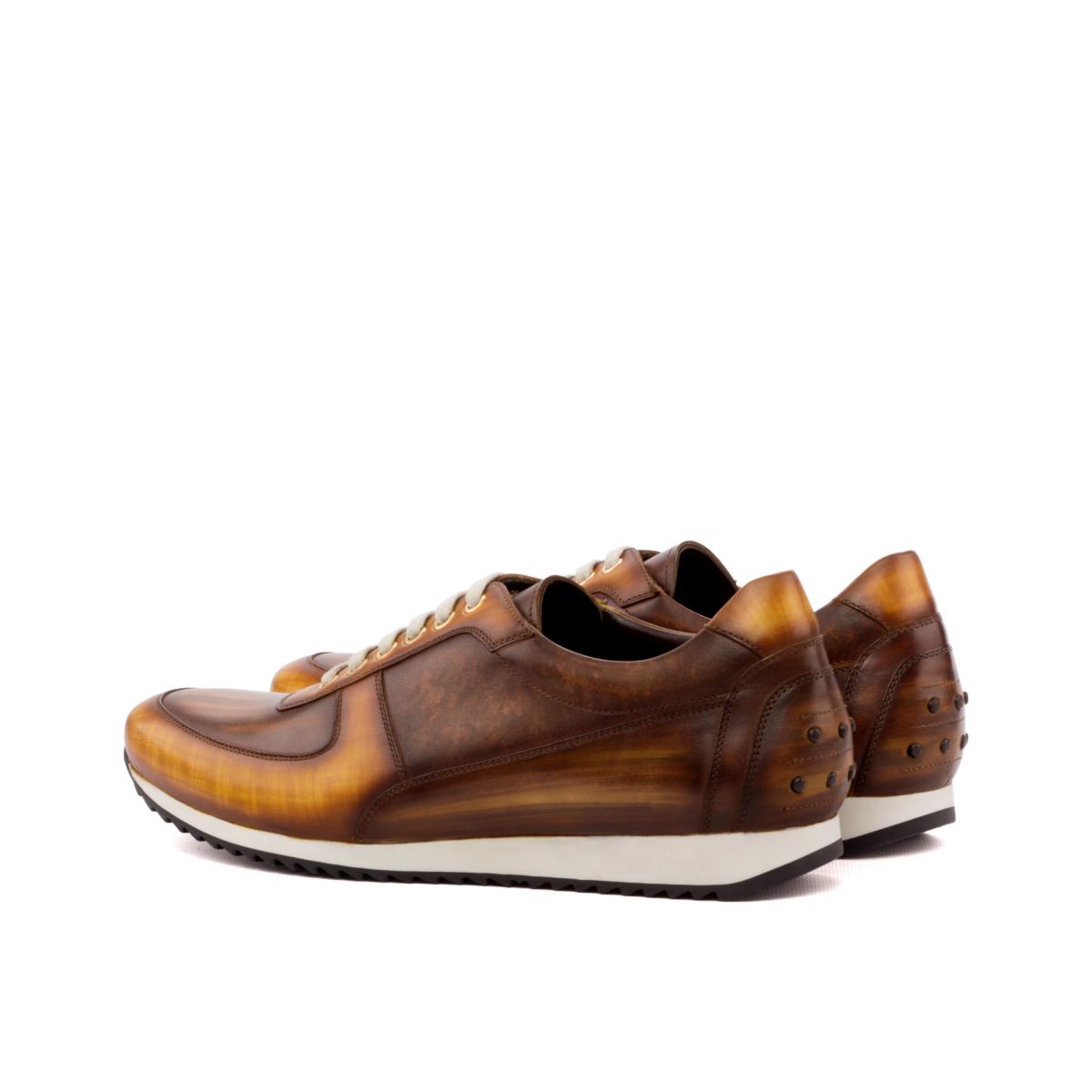 Zapatilla urbana LEO corsini patina cognac y marrón