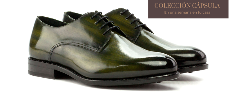 Derby Goodyear Welted - Patina Heavy - Crust Patina Khaki