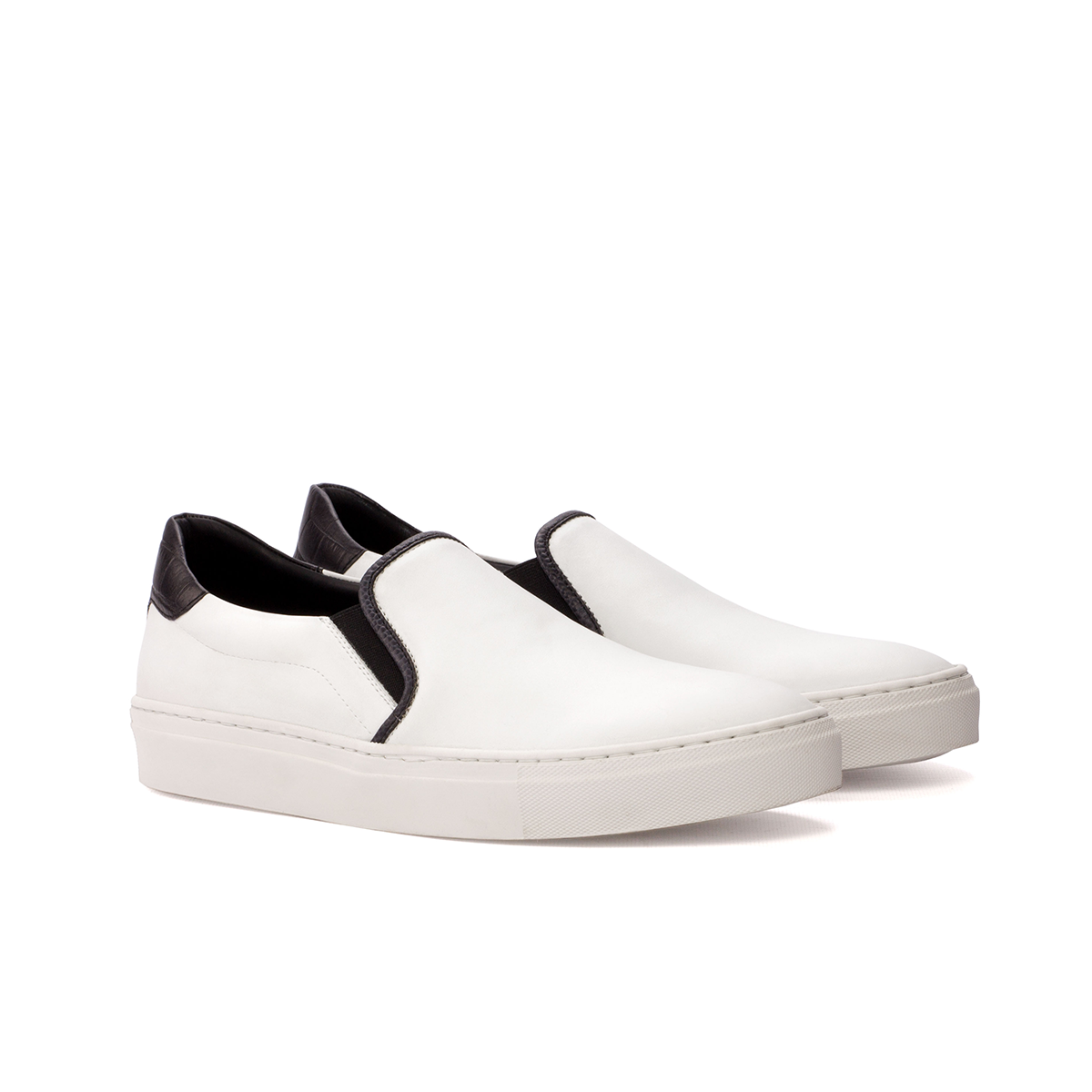 Slip-on Sneaker en ante blanco