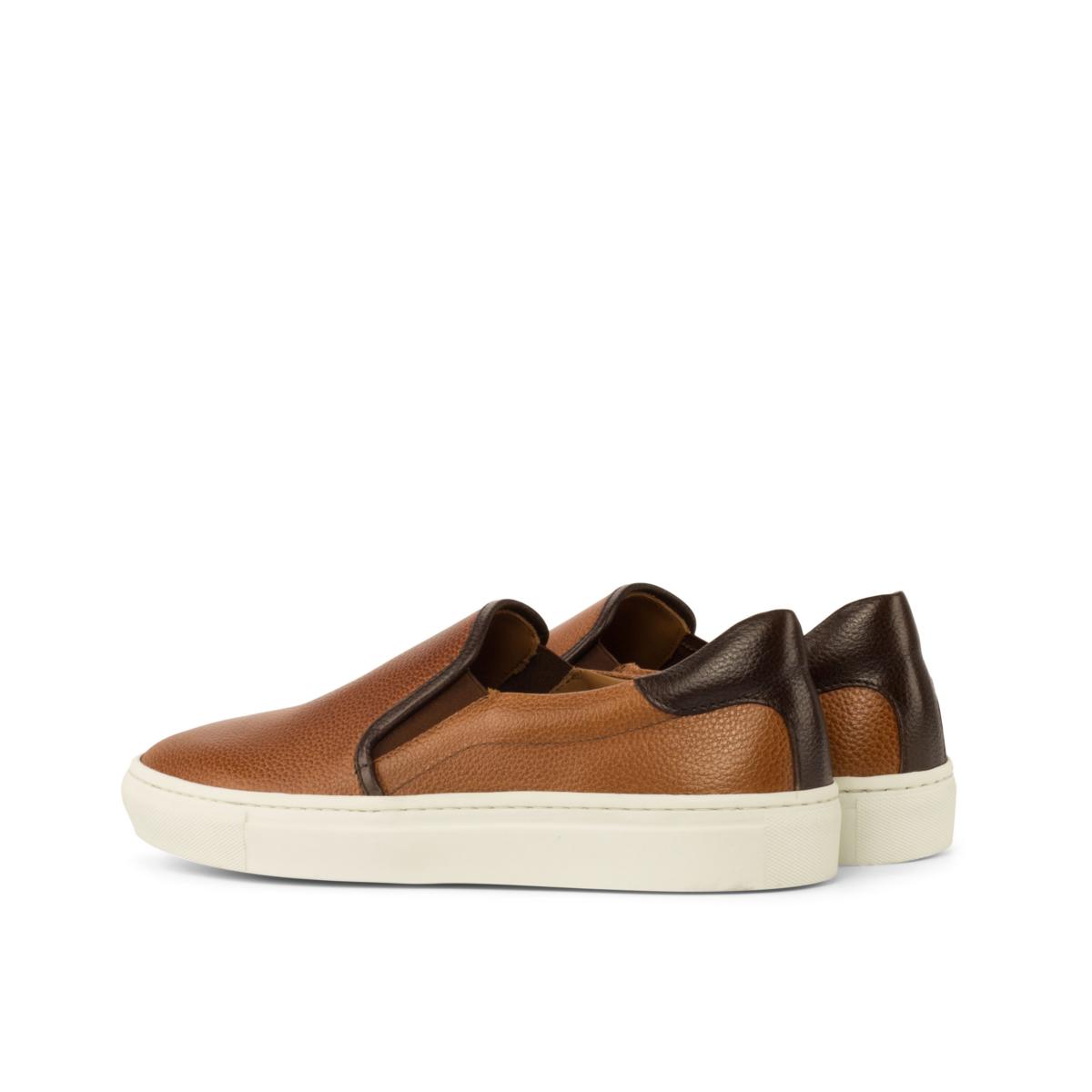 Slip-on Sneaker painted full grain cognac