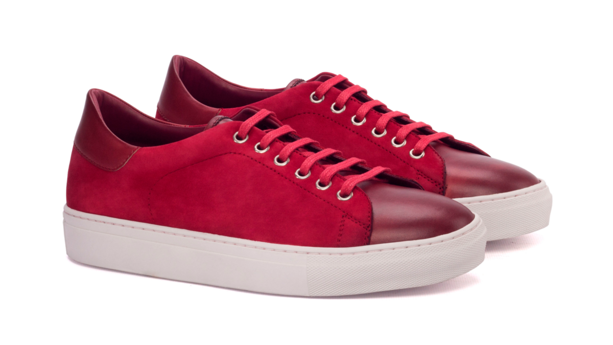 Trainer Sneaker red suede