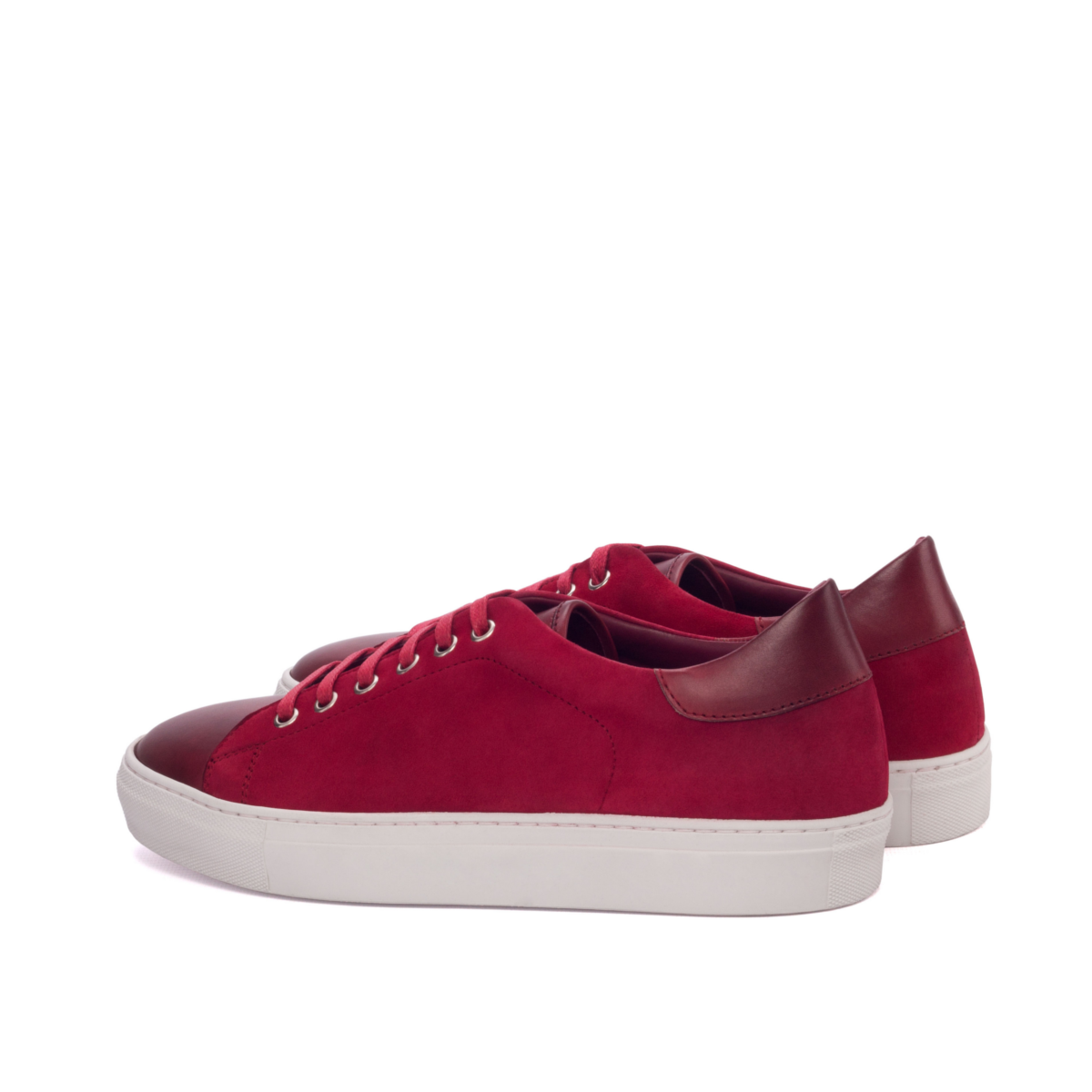 Zapatilla urbana LEO trainer en ante rojo