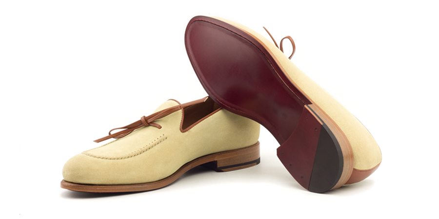 Loafer Bow Sand suede