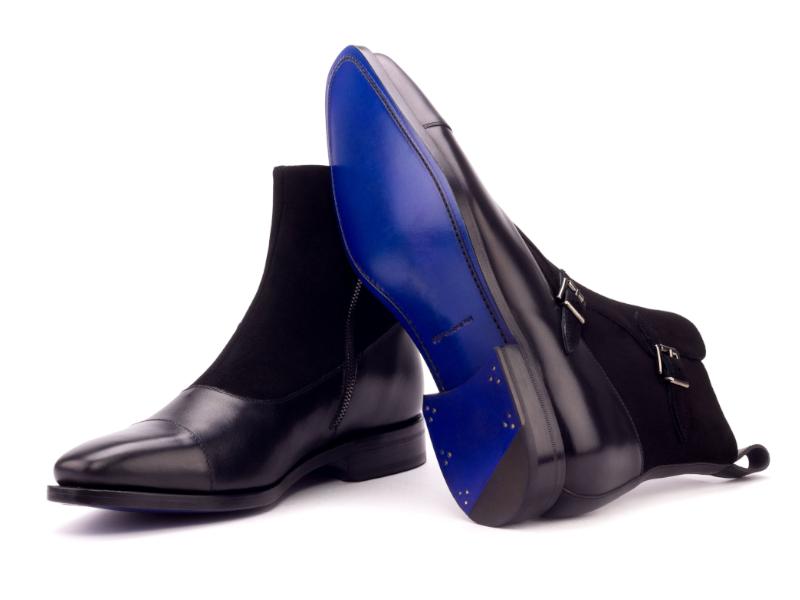 Bota Octavian personalizada para hombre ante y box calf negro Cambrillon 3