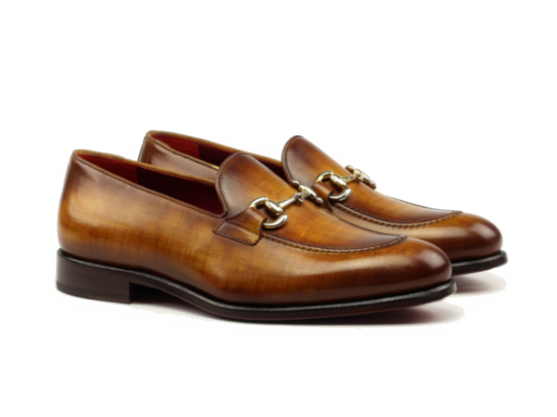 Gucci loafer para hombre cognac Goodyear welted Cambrillon