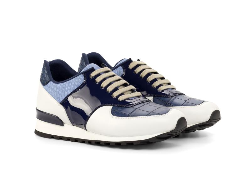 Jogger sneaker personalizada para hombre azul y blanco Cambrillon