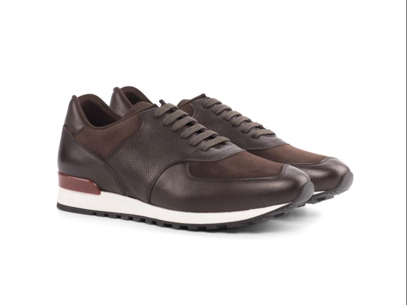 Jogger Sneaker para hombre en ante marron Cambrillon