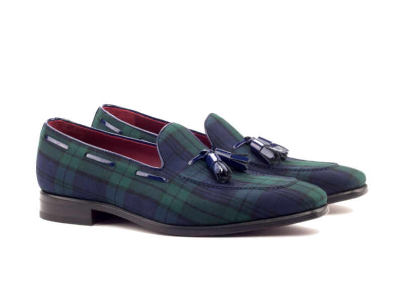 Loafer para hombre en blackwatch Goodyear welted Cambrillon