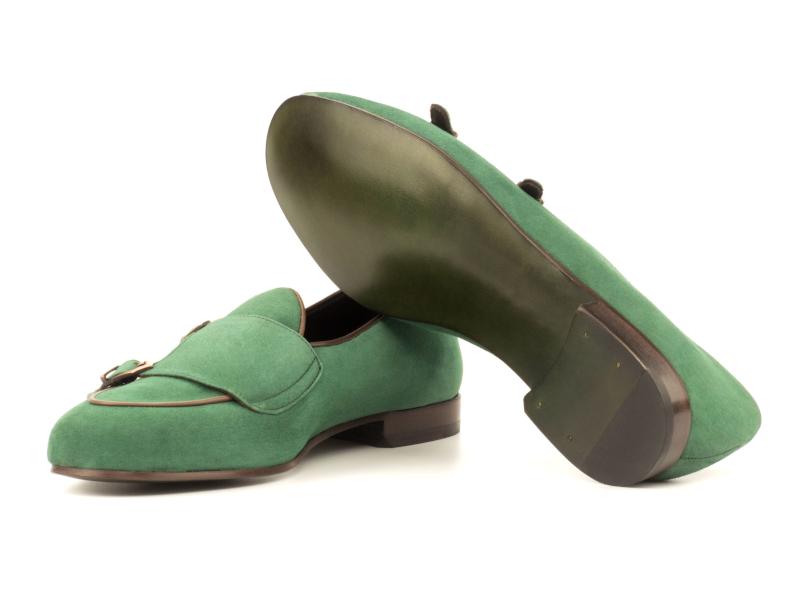 Monk Slipper para hombre en ante verde Cambrillon 3