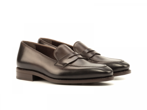 Penny loafer marron para hombre Goodyear welted Cambrillon