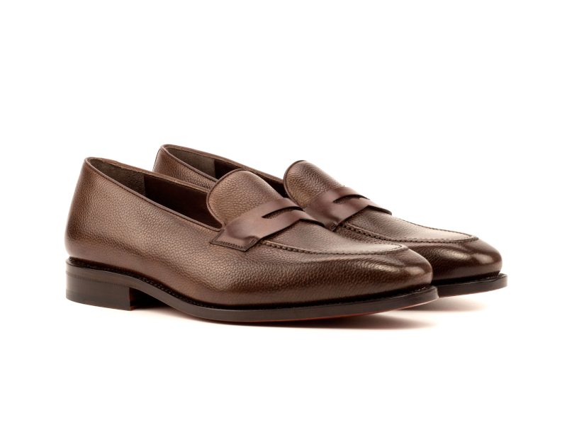 Penny loafer marron para hombre full grain Goodyear welted Cambrillon