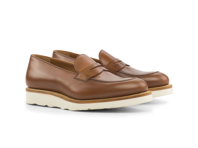 Penny loafer para hombre cognac Goodyear welted Cambrillon