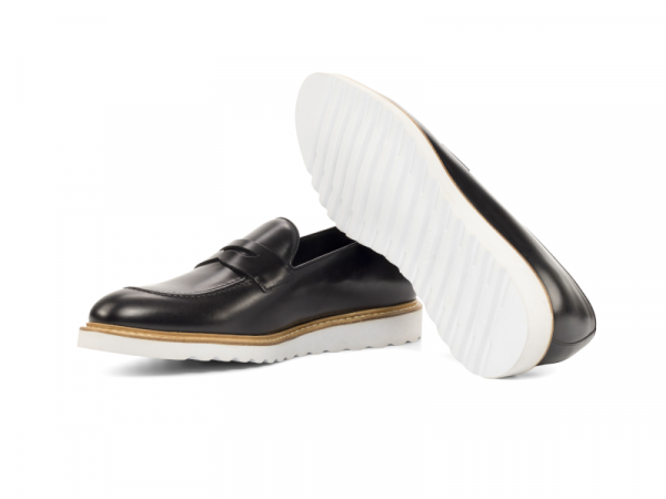 Penny loafer para hombre negro Goodyear welted Cambrillon 3