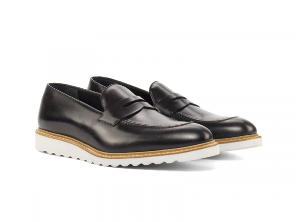 Penny loafer para hombre negro Goodyear welted Cambrillon