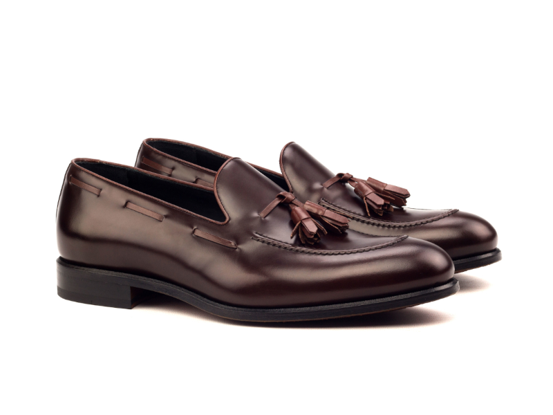 Tassel loafer para hombre burdeos Goodyear welted Cambrillon