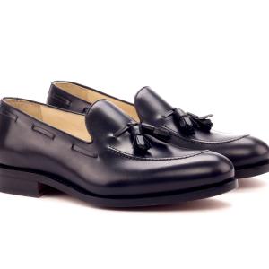 Tassel Loafer negro para hombre