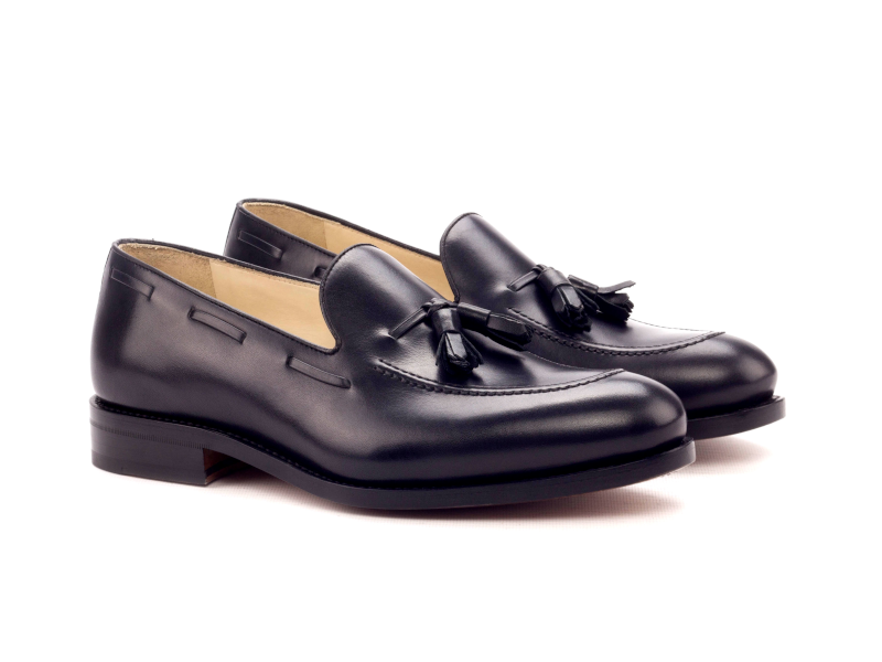 Tassel loafer para hombre negro Goodyear welted Cambrillon