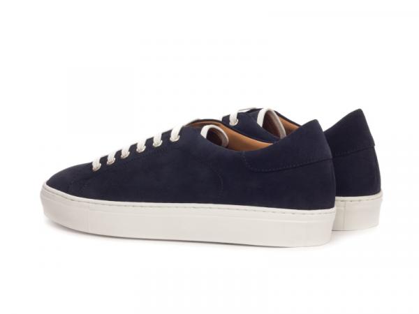 Trainer Sneaker en ante azul marino Cambrillon 2