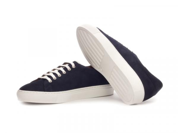 Trainer Sneaker en ante azul marino Cambrillon 3