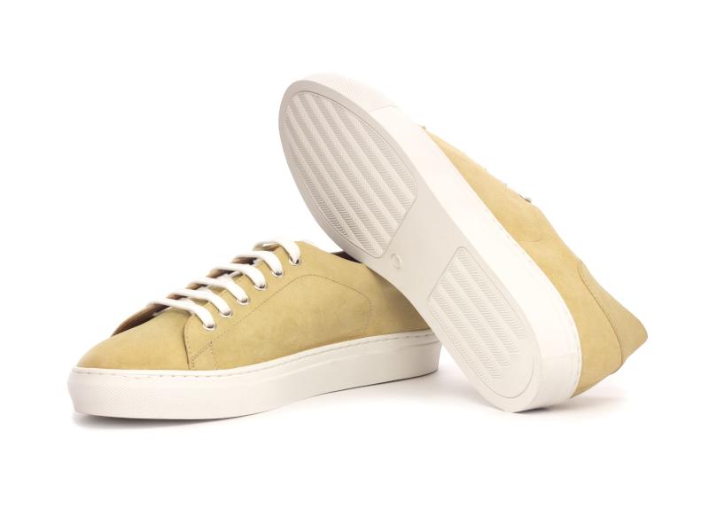 Trainer Sneaker en ante beige Cambrillon 2