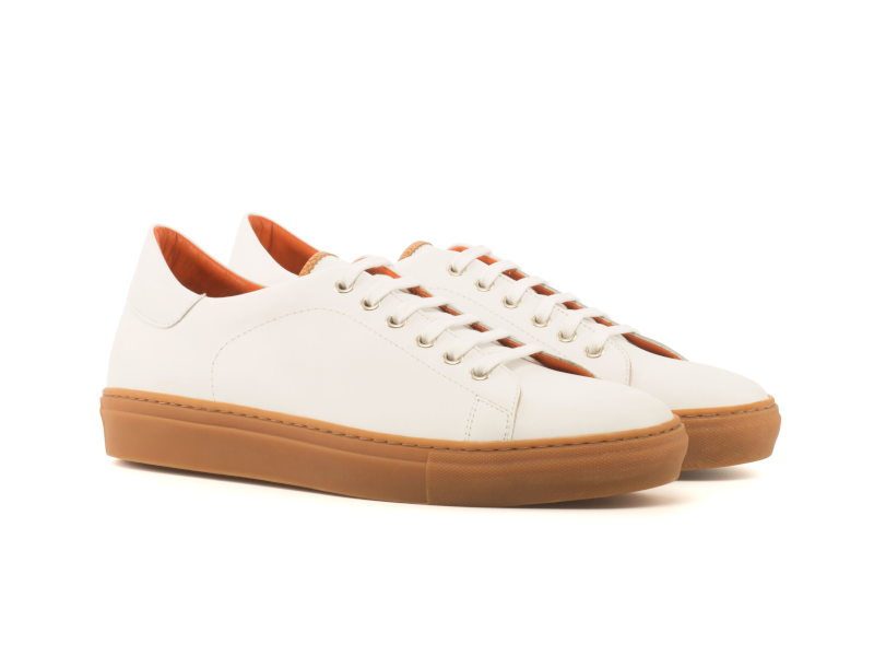 Trainer Sneaker en box calf blanco Cambrillon
