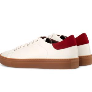 Trainer Sneaker para hombre blanca y roja