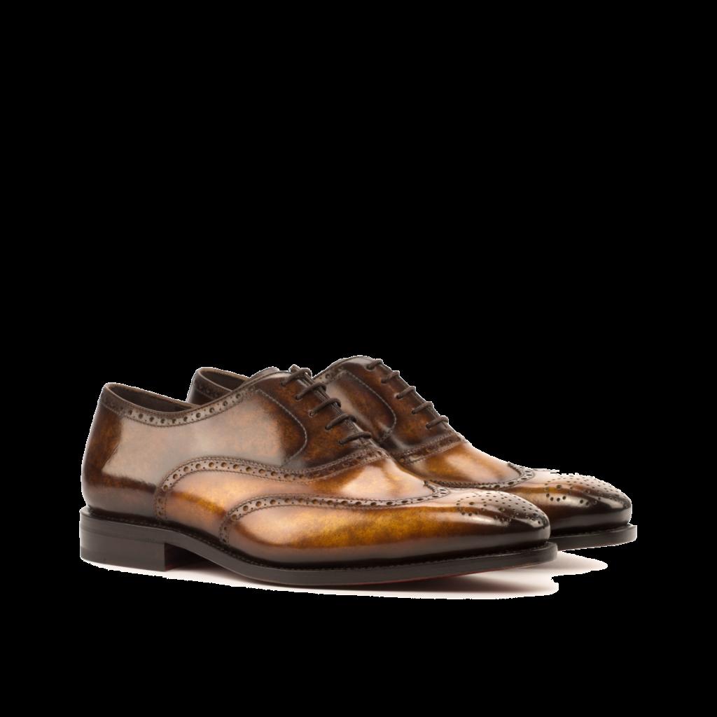 Zapato Oxford patina Goodyear welted para hombre Cambrillon