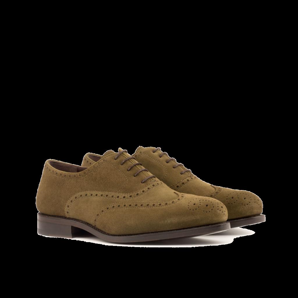 Zapato Oxford en ante Goodyear welted para hombre Cambrillon